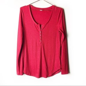 Old Navy Red Henley